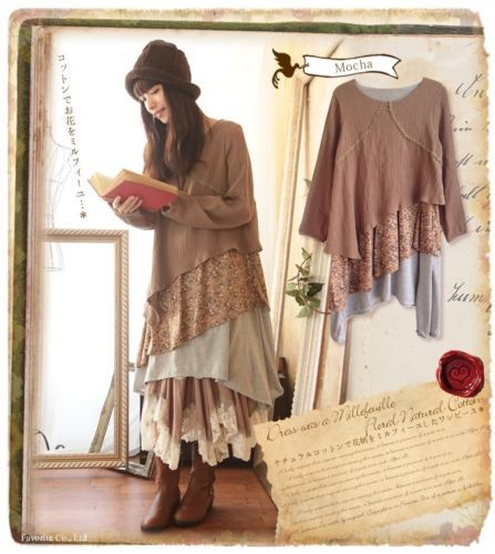 Long-Sleeved-Dress-Lagenlook-Sweet-Mori-Girl-Vintage-Woman-casual-Irregular
