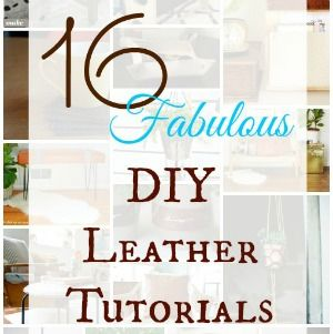 16 leather tutorials for the home