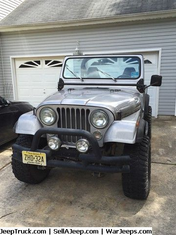 Jeeps For Sale and Jeep Parts For Sale - 1980 Jeep CJ7 silver