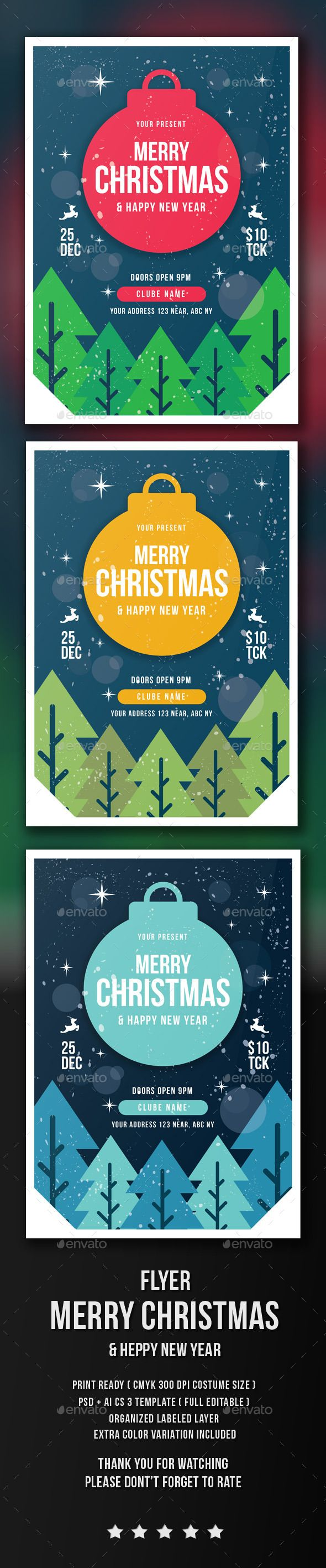 Xmas poster design - Christmas Flyer Template Psd Design Xmas Download Http Graphicriver