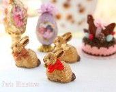 Chocolat Pâques lapin Lindt-Style (disponible en 3 saveurs) - 12ème échelle miniature produits alimentaires pour maisons de poupées