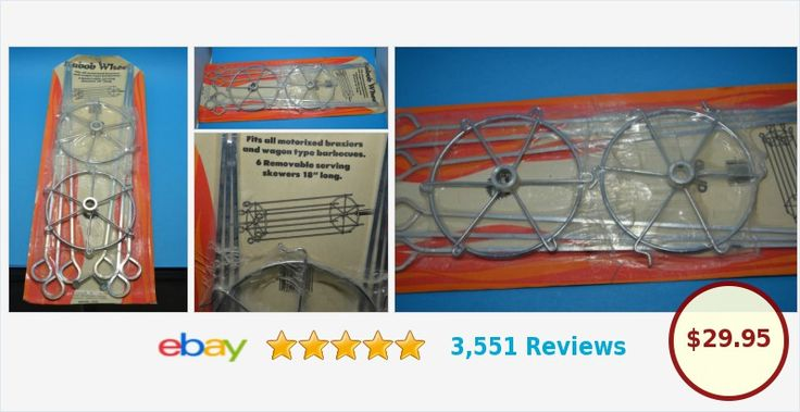 BBQ ROTISSERIE GRILL SHISH KABOB WHEEL SKEWERS KIT KABOB MAKER | eBay #kabob