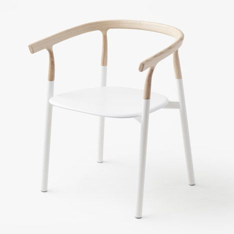 Nendo's Twig chair features interchangeable wooden tops.