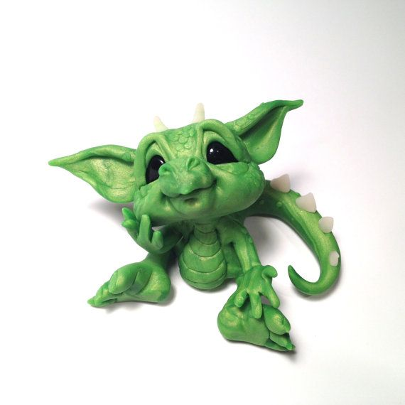 Original Baby Wish Dragon  Art Doll by HedegaardsWhimsies on Etsy, $39.00