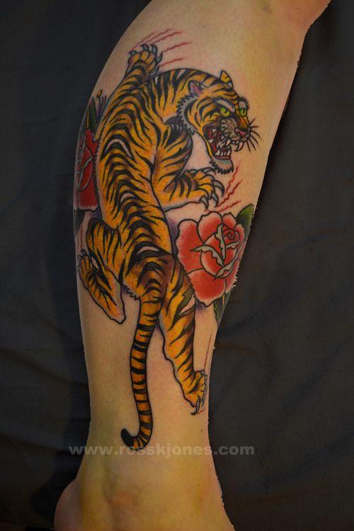 20 Tiger Rose Vintage Tattoos Ideas And Designs