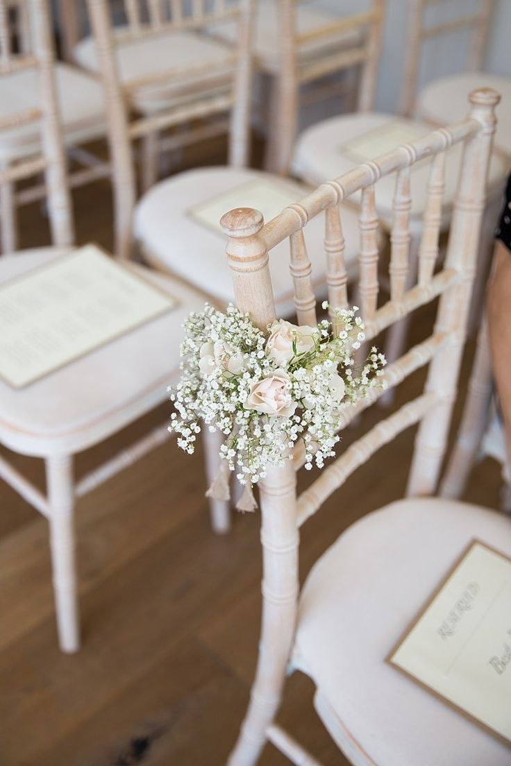 Chair Flowers Pew End Aisle Ceremony Gypsophila Rose Pastel Country Garden Wedding Http