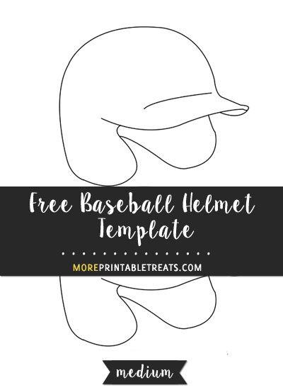 free baseball helmet template