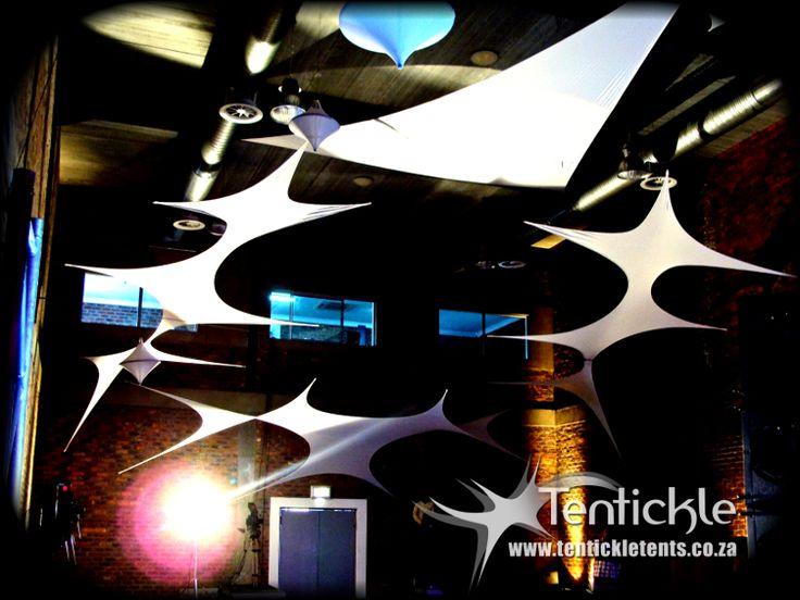 Stretch decor from http://www.tentickletents.co.za/ #stertchdecor #indoordecor #decor #lycradecor