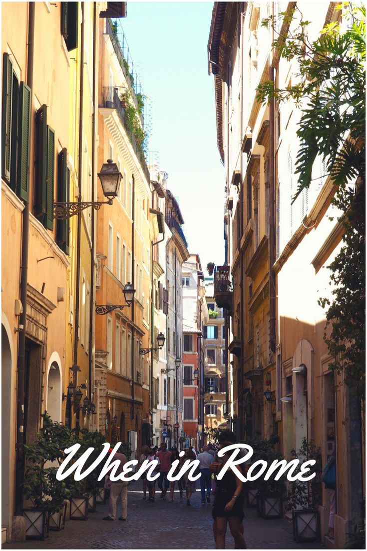 When in Rome... wander the charming streets, take in some ancient architecture and EAT. See a full Rome guide on While I'm Young and Skinny travel and lifestyle website.