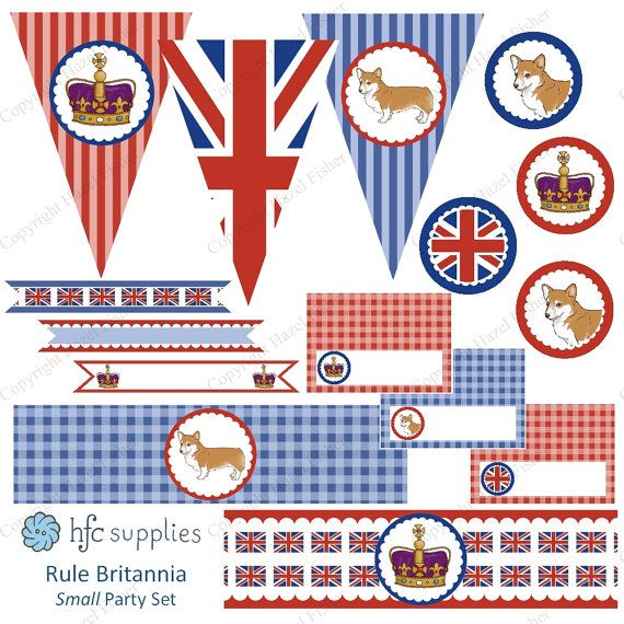 British Party Collection small set  Rule Britannia by hfcSupplies