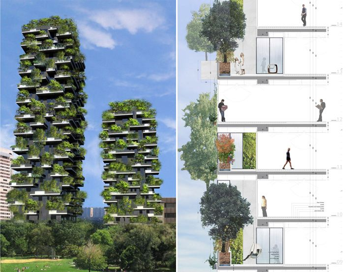 Designed byStefano Boeri, the Bosco Verticale is a towering 27-storystructure,currentlyunder construction in Milan, Italy. Once complete, the tower will be home to the world's first vertical forest.