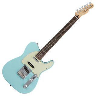 Fender Deluxe Nashville Telecaster Electric Guitar, Daphne Blue at Gear4music.com