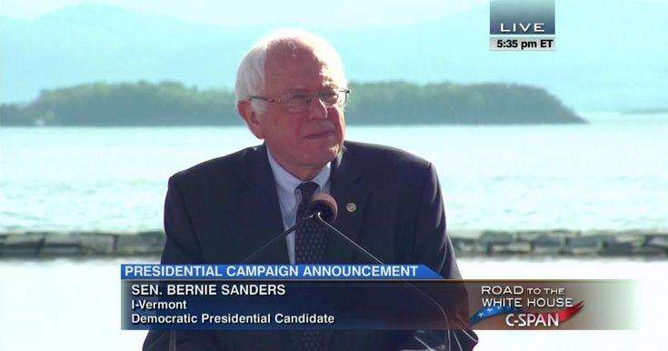 Senator Bernie Sanders Presidential Campaign Announcement    Good guy and great speech...He is a people's candidate. #berniesandersfor president