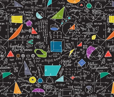 spoonflower fabric // Math: Count On It! by sammyk
