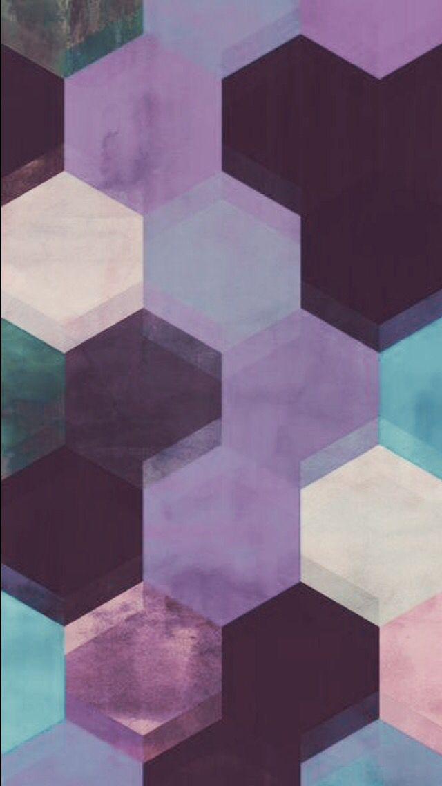 Geometric purple & teal