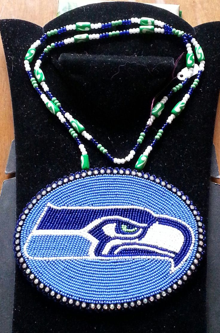 Beaded Seahawk Logo Medallion By Aweyodesigns On Etsy