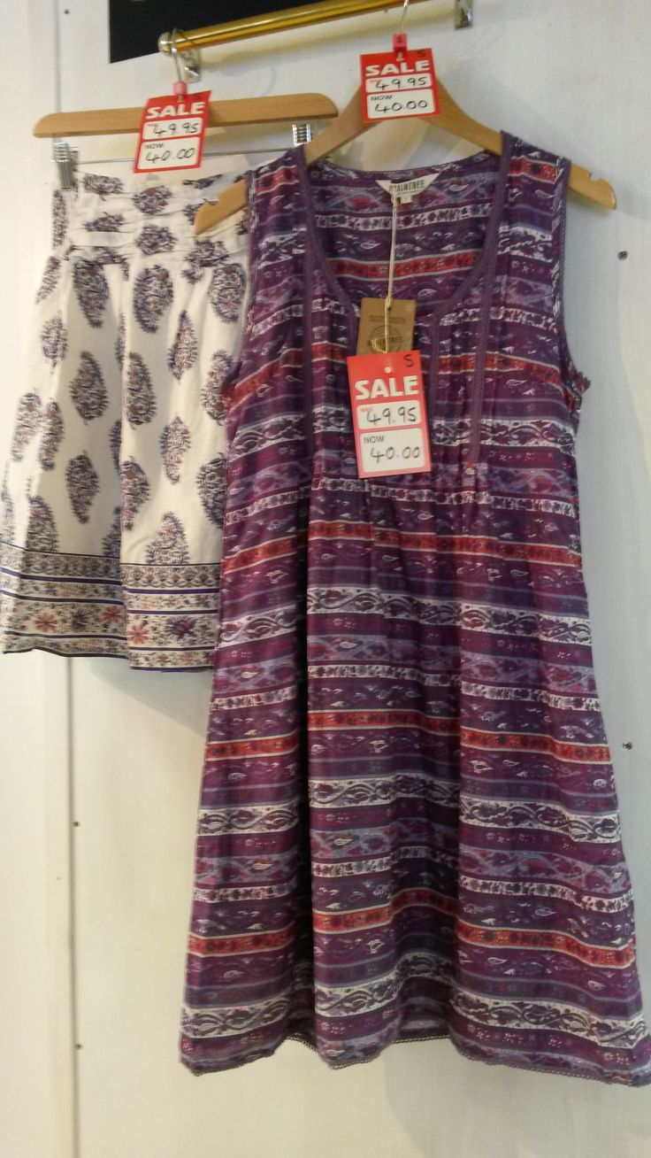 We've got reductions on some beautiful dresses and separates in soft flowing cotton featuring Indian-inspired prints - all made with loving care by that rising star among British clothing brands, Braintree. Pop in store to see us on Eastgate in Louth, Lincolnshire, to see what's in our Summer 2014 sale!