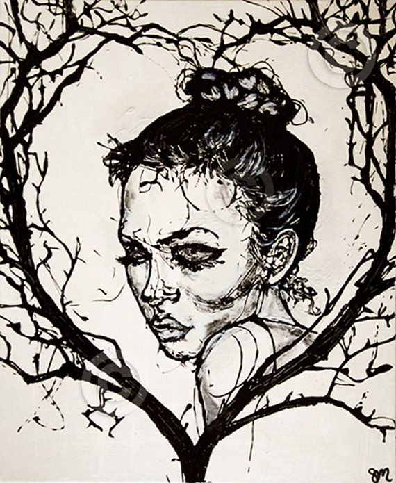 A haunting and romantic Art Print, a beautiful gift that would work great with contemporary or shabby chic home decor. Only €23