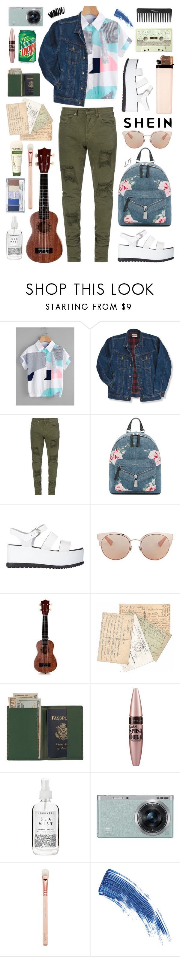 """""""SheIn 3"""" by creartivechild ❤ liked on Polyvore featuring Wrangler, Diesel, Barneys New York, Christian Dior, Royce Leather, Sephora Collection, Maybelline, Herbivore, Samsung and Aveeno"""