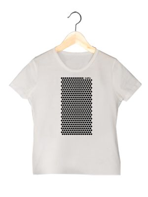 Camiseta en algodón orgánico en color blanco para chica VLBM   www.strambotica.es