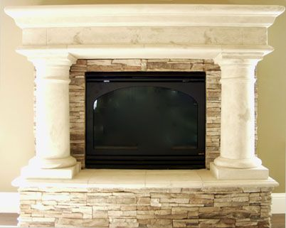 Brick Limestone Fireplace Mantels Ideas Cast Stone Gfrc