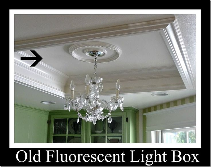 Kitchen Tour Light Box Turned Tray Ceiling Feature For