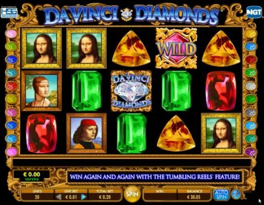 Da Vinci Diamonds slot online