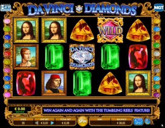 Da Vinci Diamonds slot online