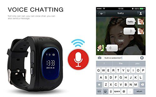 optimal5 GPS Smart Kid Safe Smart Watch SOS Call Location Finder Locator Tracker for Child Anti Lost Monitor Baby Wristwatch (Black)   Product name: GPS Tracker Watch Suitable for: Child Camera: No support Wearing way: Wrist strap Screen size: 0.96inch Function: SOS, pas