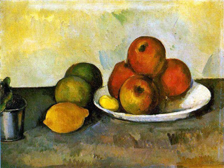 Still life with Apples - Paul Cezanne  ESTE PINTOR PASARA A LA HISTORIA COMO EL DEFENSOR DE LA FRUTA.....LIMON