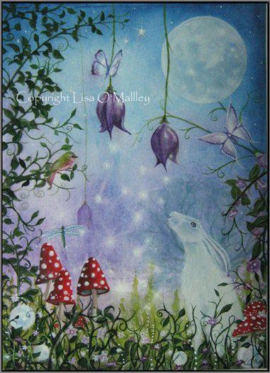 """Night Garden"" by Lisa O'Malley (eveningstardust on Etsy) (01/21/14)"