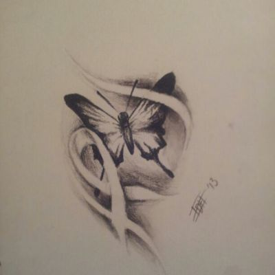 Quick Butterfly/ ribbon design