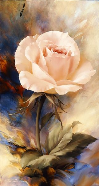 LEVASHOV, beautiful rose painting.