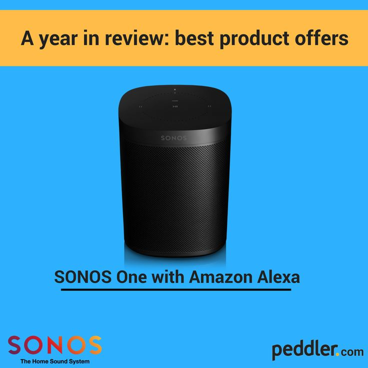 Year in review: best offers. The Sonos Play One with Amazon Alexa! #peddler #music #speaker #bluetooth #smarthome #home #music