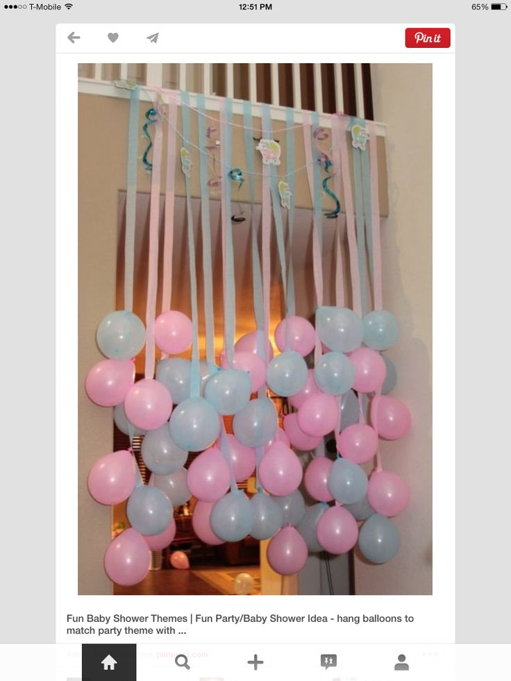 Balloon drop for baby shower