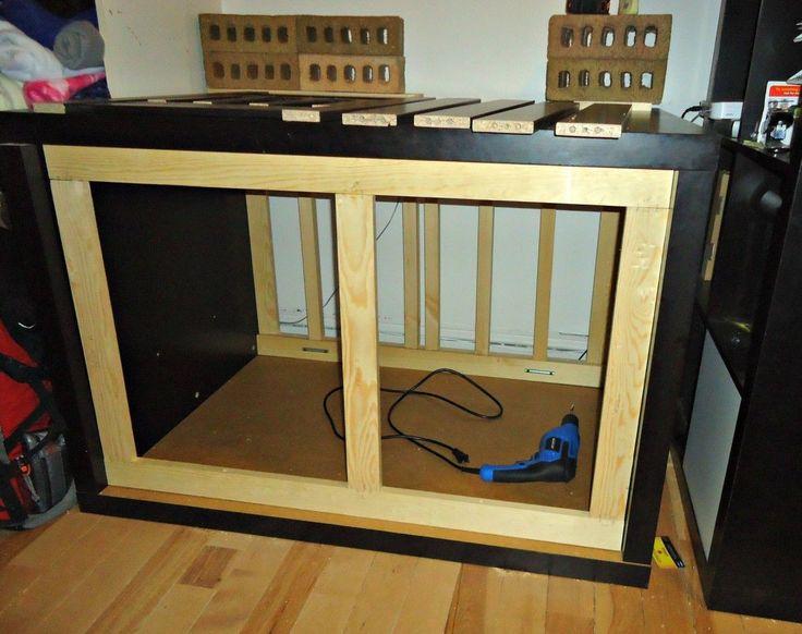 ikea hack dog crate desk craft table sewing like a. Black Bedroom Furniture Sets. Home Design Ideas