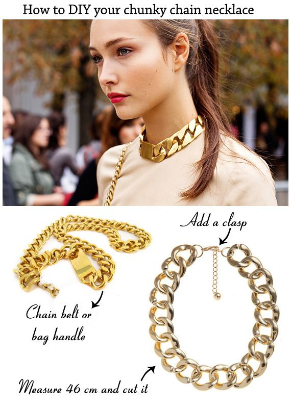 how to diy your chunky chain necklace