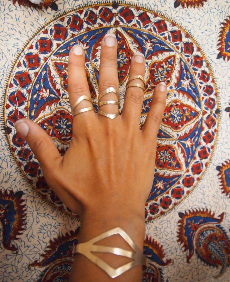 DUO Handmade Brass Ring