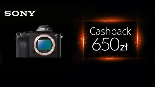 Cashback Sony Alfa A7, A7II, A7R, A7S!