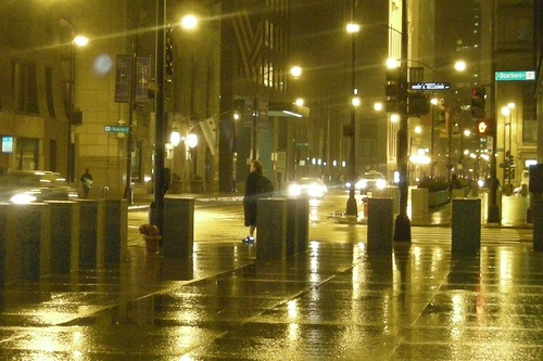 Rainy Night Chicago
