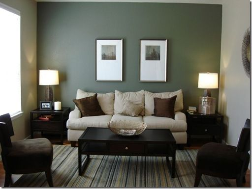 A Cool Serene Green Accent Wall Find This Pin And More On Formal Dining Room Paint Color Ideas