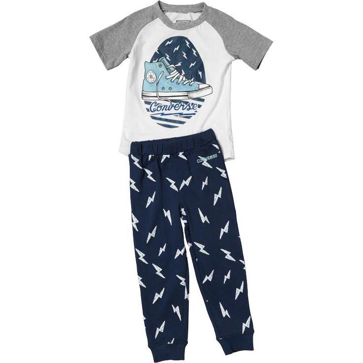 Converse Infant Boys Lightening Bolt Set Navy - http://tidd.ly/33157704