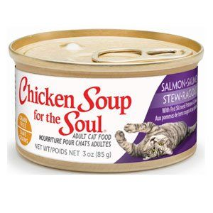 Chicken Soup for the Cat Lover's Soul Adult Salmon Stew Red Skinned Potatoes and Spinach Canned Cat Food ,24 count-3 oz *** Check out this great article.