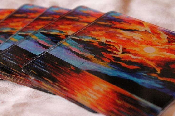 portavasos acrílico - Pintura: Leonid Afremov