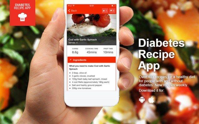 Aplicație de rețete pentru diabetici