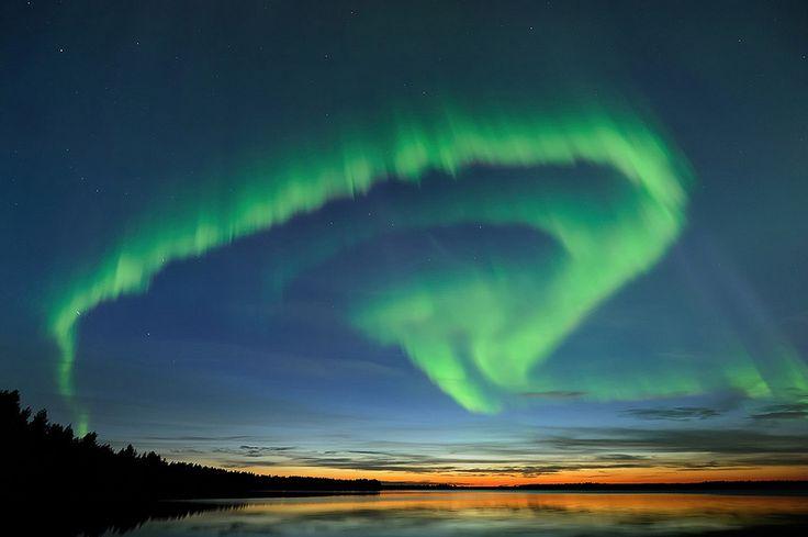 Summer Northern Lights in Finland, Oulu