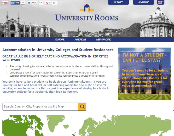 UniversityRooms.com is a unique website offering visitor accommodation options in university and college halls of residence. Check out our review here.