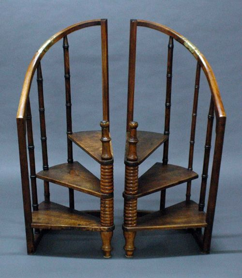 I would be happy with even one of these but it would be a shame to split the pair.   S #Regency era #library #steps.