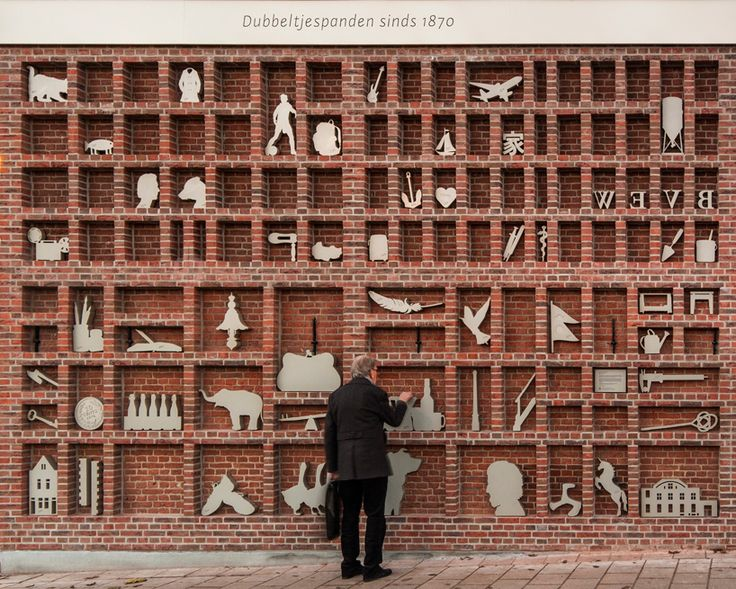 Brick Wall Transformed Into A Magnified Type Case By Wessels Boer