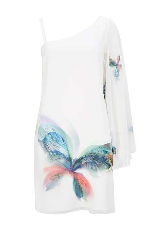 Sapphire Ivory Butterfly Dress